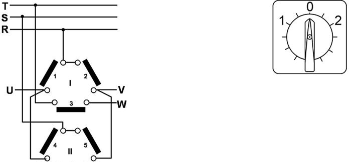 inverseur de sens de rotation tripolaire