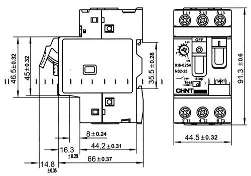 disjoncteur magn u00e9to-thermique tripolaire - 1 6-2 5a